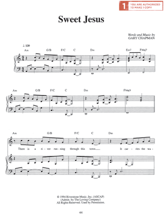 Sweet Jesus (Sheet Music)
