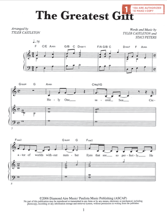 The Greatest Gift (Sheet Music Download)