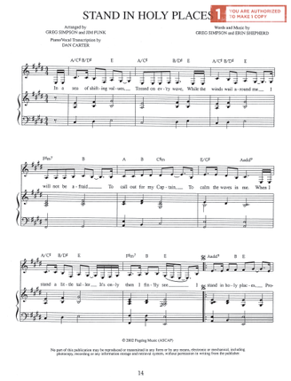 Stand in Holy Places (Sheet Music)
