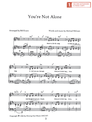 Youre Not Alone Sheet Music Download Deseret Book