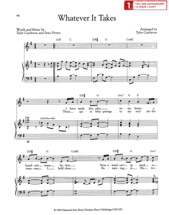 Whatever It Takes (Sheet Music Download)
