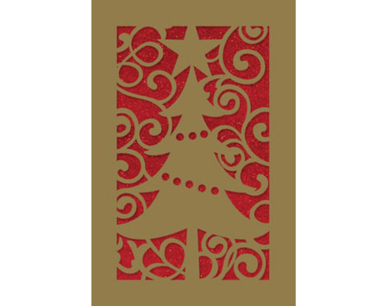 Scrolls and Tree Christmas Cards - Deseret Book
