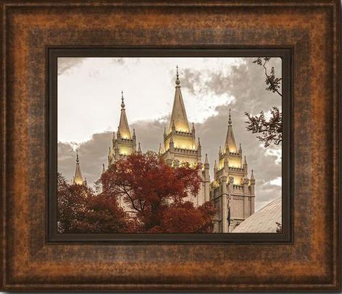 3f832b9173af Salt Lake Temple (18x21 Framed Giclee Canvas). by Taylor Yardley