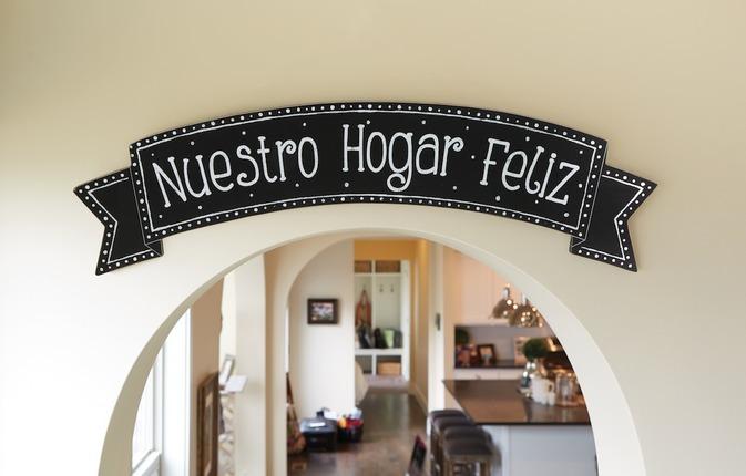 Spanish happy place plaque