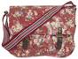 Red Floral Messenger Bag