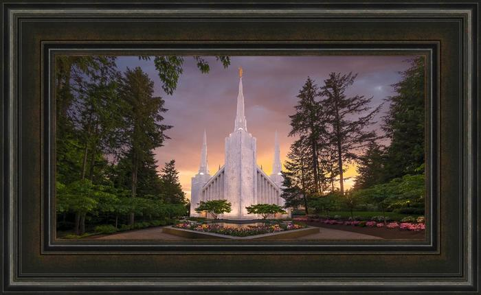 Portland temple peace be still 22x36 framed art