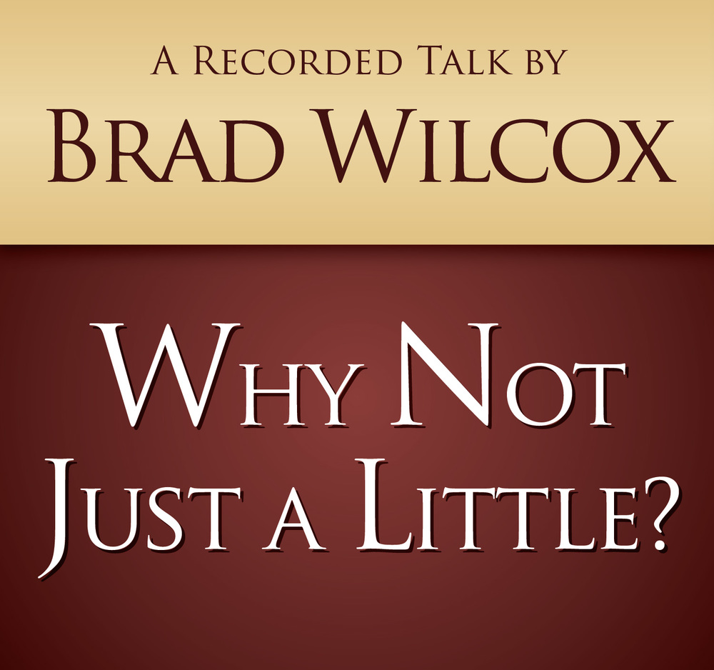 Brad wilcox why not just a little