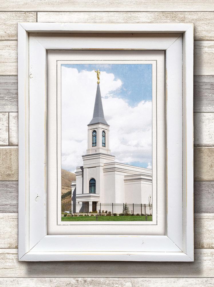 White Framed Star Valley Temple (22x16 Framed Art) - Deseret Book