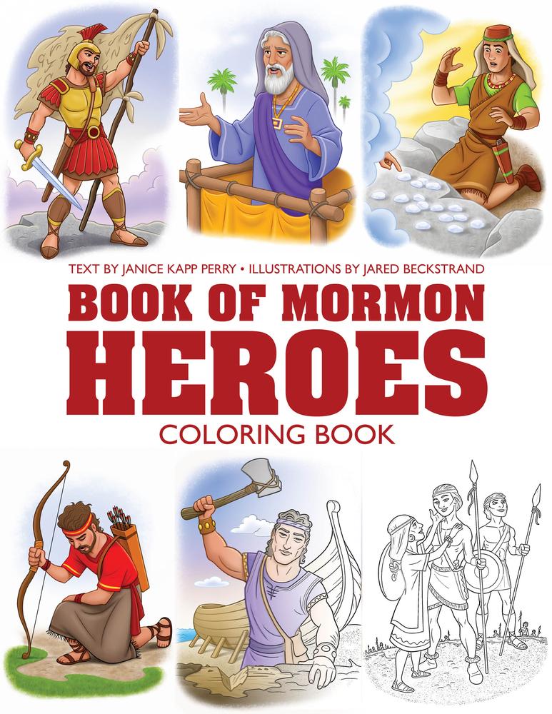 Book of mornom coloring book cover