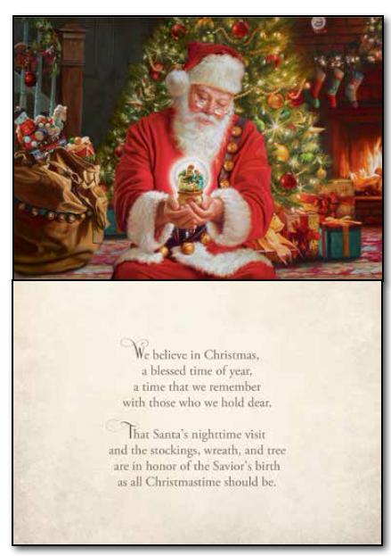 I Believe In Christmas.We Believe In Christmas Card Set Deseret Book