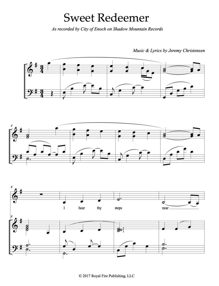 Sweet Redeemer Sheet Music Deseret Book