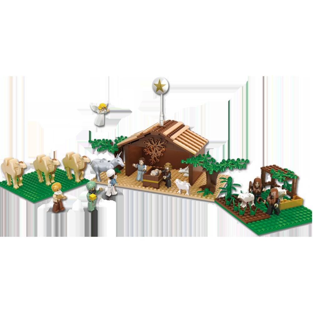 Brick em young nativity set