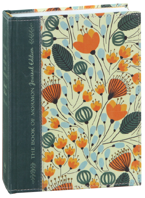 Book of mormon journal edition orange floral