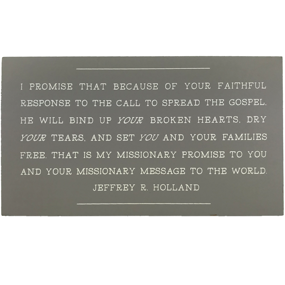 Missionary Message to the World (9x5 Plaque)