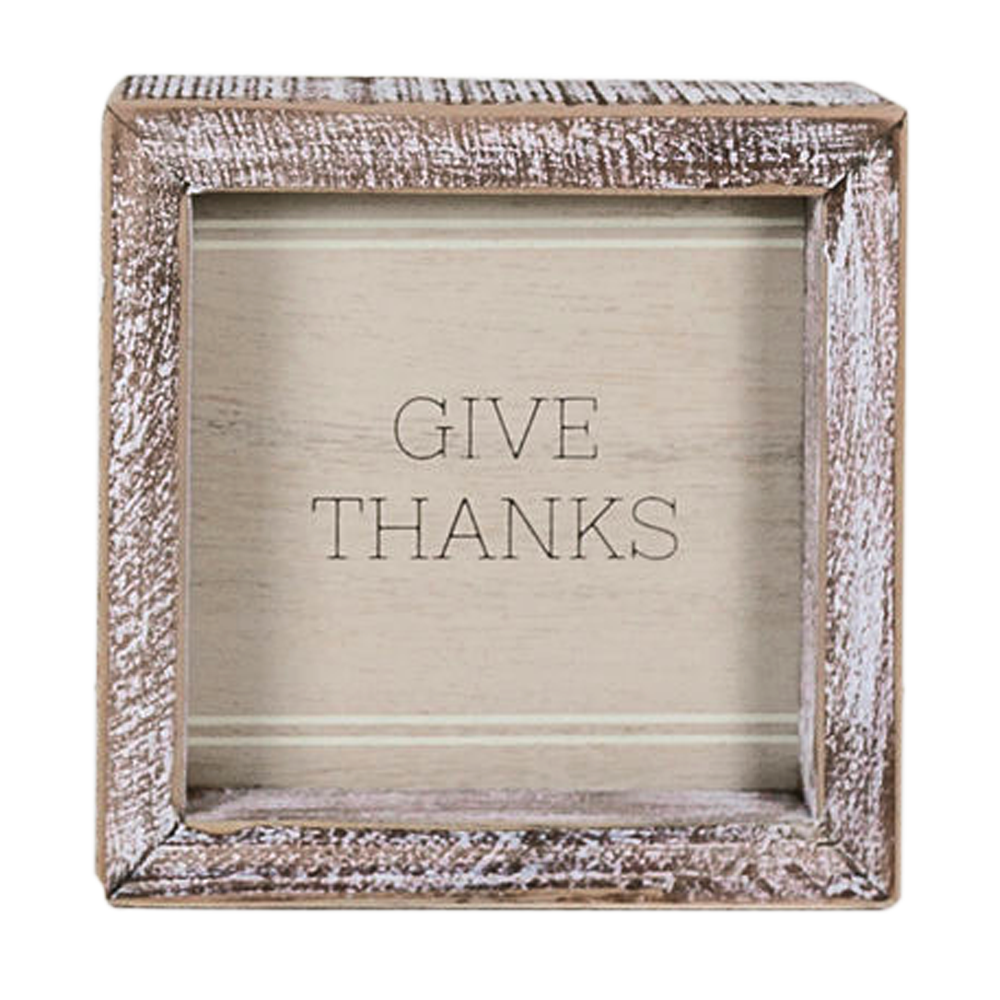 Give thanks plaque 5x5