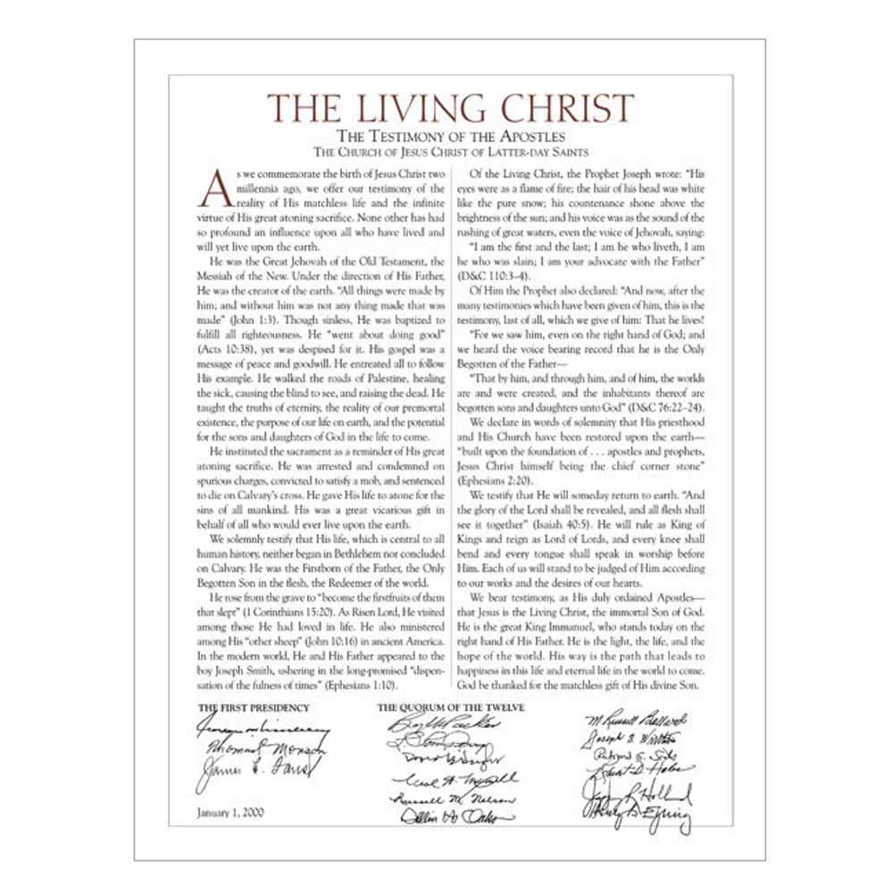 photograph relating to The Living Christ Printable known as The Residing Christ: The Testimony of the Apostles Deseret