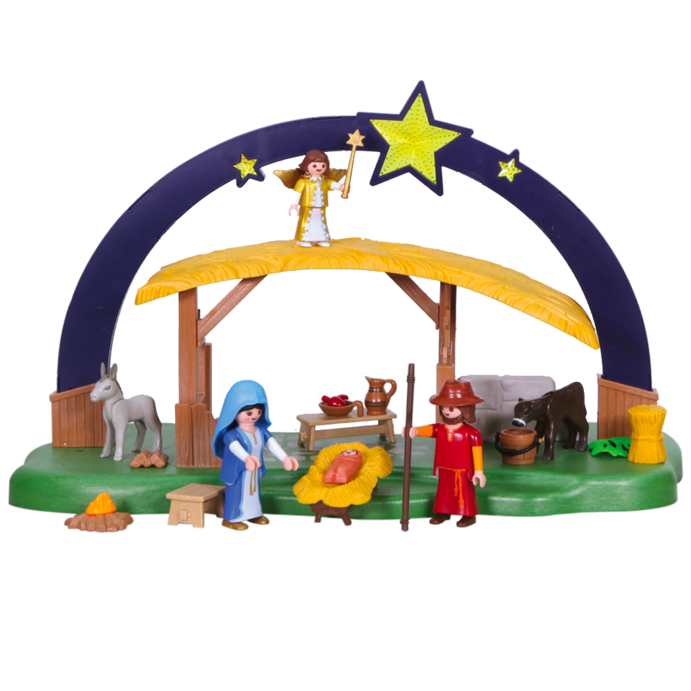 Illuminating Playmobil Nativity